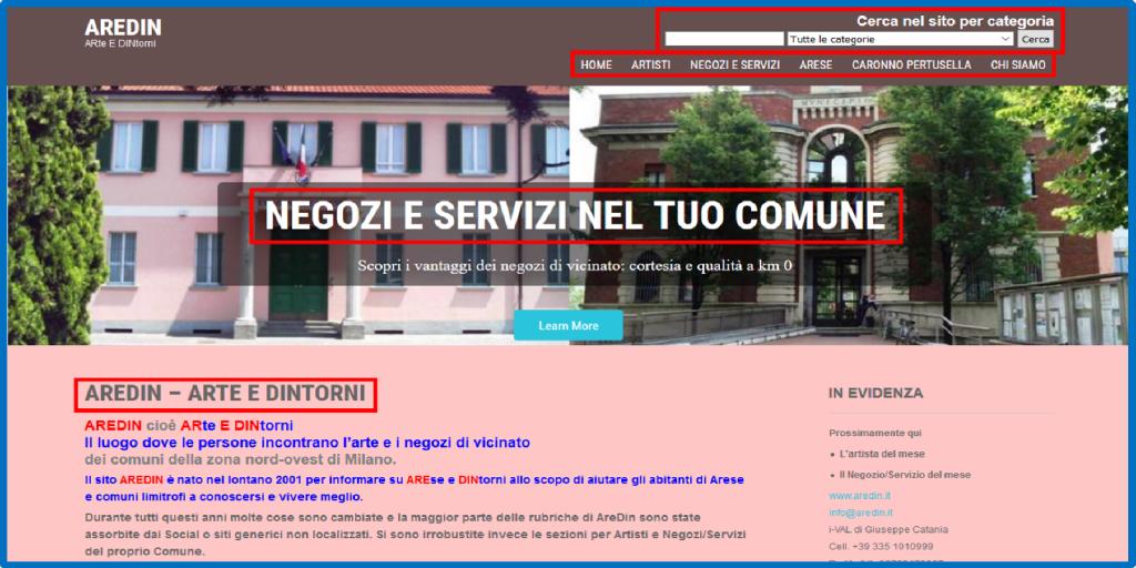 AREDin.it | Artisti e Negozi del tuo Comune | Web | 2001-on | GUARDA