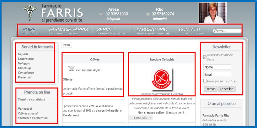 FarmacieFarris.it | Vetrina e prenota farmaco | Web | 2010 |